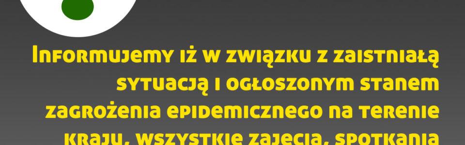 Z przykrością informujemy, że zajęcia i spotkania w GOK Janowiec zostają zawieszone do odwołania